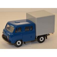 10026-4-УСР УАЗ-39094 Фермер с будкой, темно-синий