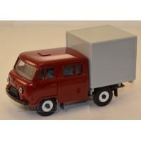 10026-5-УСР УАЗ-39094 Фермер с будкой, бордовый
