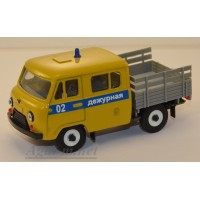 10033-УСР УАЗ-39094 Фермер без тента  милиция дежурная, желтый