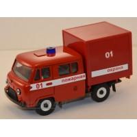 10037-УСР УАЗ-39094 Фермер с будкой, пожарный