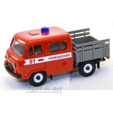 12006-УСР УАЗ-39094 Фермер пожарный без тента (пластик крашенный), таблетка