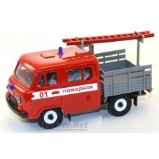 12008-УСР УАЗ-39094 Фермер пожарный без тента с лестницей (пластик крашенный)