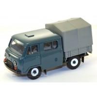12020-УСР УАЗ-39094 Фермер с тентом, (пластик крашенный), серо-зеленый