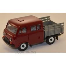 12021-5-УСР УАЗ-39094 Фермер без тента (пластик крашенный), бордовый