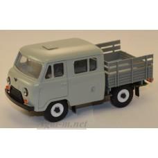 12021-6-УСР УАЗ-39094 Фермер без тента (пластик крашенный), молочный