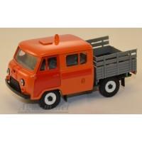 12032-УСР УАЗ-39094 Фермер без тента аварийная служба (пластик крашенный), оранжевый/красный