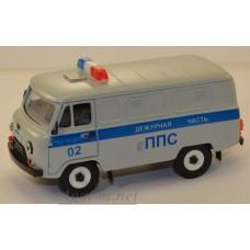 10038-УСР УАЗ-3741 фургон милиция ППС, серый