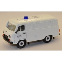 10045-УСР УАЗ-3741 фургон ДПС белый, таблетка