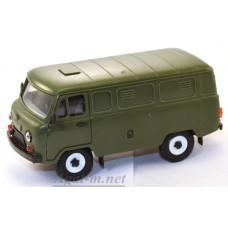 11005-УСР УАЗ-3741 фургон (пластик), зеленый