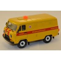 12030-1-УСР УАЗ-3741 фургон скорая медицинская помощь желтый (пластик крашенный), таблетка
