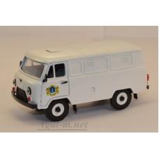 12040-УСР УАЗ-3741 фургон на двери герб г. Ульяновска (пластик крашенный), белый
