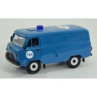 12048-УСР УАЗ-3741 фургон ГАИ таблетка (пластик крашенный), синий