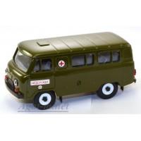 10002-УСР УАЗ-3962 автобус медслужба, зеленый