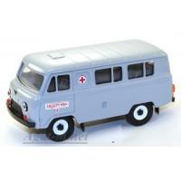 10002-1-УСР УАЗ-3962 автобус медслужба, серый