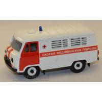 10004-УСР УАЗ-3962 автобус скорая медицинская помощь, белый/красный