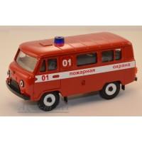 10005-2-УСР УАЗ-3962 автобус пожарный (надпись), таблетка
