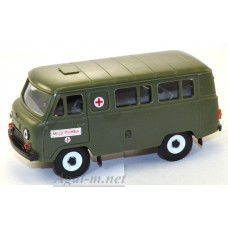 11001-УСР УАЗ-3962 автобус медслужба (пластик), зеленый