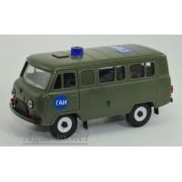 11014-УСР УАЗ-3962 автобус ГАИ наклейки, таблетка (пластик), зеленый