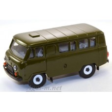 12000-УСР УАЗ-3962 автобус (пластик крашенный), зеленый