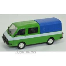 234-ДЕГ РАФ-2909 с синим тентом 1979 г., зеленый/белый