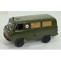 244-ДЕГ УАЗ-452А санитарный автобус, зеленый