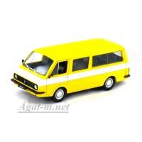 "26-ДЕГ РАФ-2203 ""Латвия"" 1976-1987 гг. жёлтый с белым"