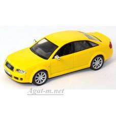 Масштабная модель Audi RS 6 желтого цвета